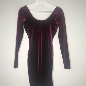 American Apparel Dresses - American Apparel Burgundy Red Velvet Mini Dress